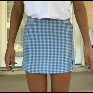 Blue Brandy Gingham Skirt
